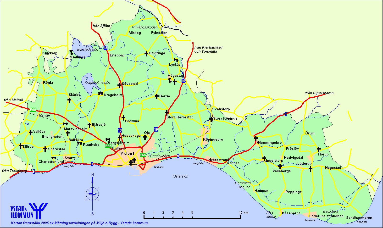 karta ystad Översiktskartor   Ystads kommun karta ystad